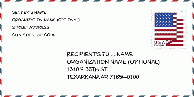 ZIP Code 5: 71854 - TEXARKANA | Arkansas United States ZIP ...